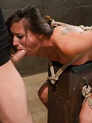 Rough sex and bondage for a hot pain slut!