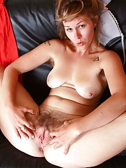 LIlah is seeing red in this sexy hirsute porn