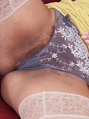 Lucie has a gorgeous hairy pussy