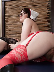 Thelma Sleaze is a naughty nurse who likes girls