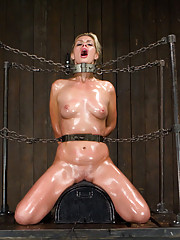 Hot blonde Tara endures her most challenging visit to Device yet. Riding a sybian in strict metal, cruel pile driver & harsh throne bondage!