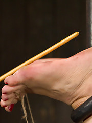 Sarah Blake returns for heavy foot torment, 15 consecutive orgasms, unique and isolating bondage, and lots of pain games!