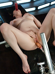 Rare all curves babe gets her luscious pussy machine fucked until her soft tits bounce and her thick ass jiggles with full throttle pleasure.