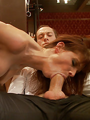 When gorgeous MILF Syren de Mer is recruited to entertain Mr Grey