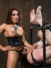 Mistress Francesca Le is heartless strap-on fucking, ass fisting and ball torturing her slaveboy for her pleasure.