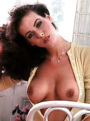 We bumped into Kelly Tough for the first time in the kitchen at Playboy Mansion West. She