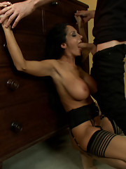 Gorgeous MILF in erotic role play, intense domination and bondage rough sex!