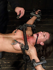 Ariel suffers through 3 grueling devices, an electrified pussy, brutal nipple torment, and screaming orgasms