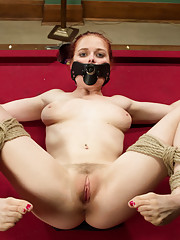 Two maids take revenge on the OCD rich bitch daughter of their employer. DP strap on fucking, Ass ASHTRAY, Rope Bondage Pool Table, dildo gag, dominat