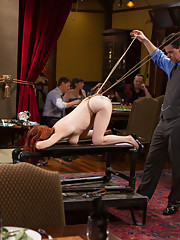 When Anal Slut Penny Pax comes to the Upper Floor, she is Presented to Serve the Brunch Guests
