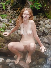 Blonde and hairy Valcorie is a nature lover