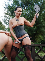 Sandra Romain returns to test eastern european slave boys at the request of Maitresse Madeline