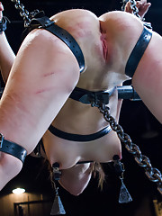Hard steel, strict chains, tight leather straps, with torment and brutal orgasms!