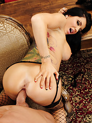 Romi Rain convinces her husband to fuck her instead of work after pleading and sucking and begging.