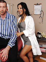Hot Dr Asa Akira has sex with married patient who comes in.