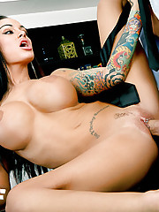 Tattooed hottie Angelina Valentine gets fucked hard