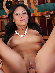 Hot latina loves riding big cocks.