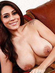 Hot latina Raylene is a busty brunette who loves to get her tight pussy fucked.