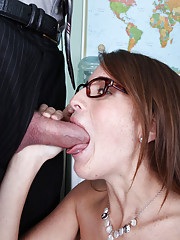 Horny Kara Price fucks and sucks a big dick.