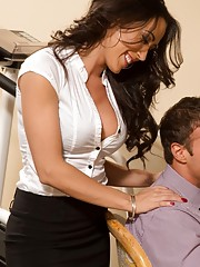 Sexy worker babe is at work and decides to suck cock and have hot sex on her desk and chair at work.