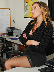 Naughty worker Nikki Sexx has hot sex with her boss.