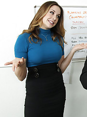 Gorgeous hot Chanel Preston loves to fuck at the office and get her mind off work.