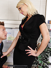 Anikka Albrite has hot sex with her big cocked worker.