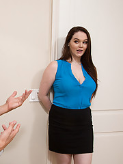 Tessa Lane has the hots for the IT guy and decides to make him fuck her in the office.