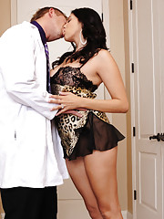 Missy Martinez is sick and calls her house doctor to come and fuck the sickness out of her.