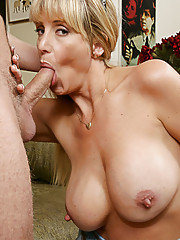 Sexy MILF Olivia Parrish loves getting fucked hard by young cock