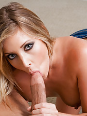 Sexy blond Samantha Saint takes advantage of a married man and uses his cock