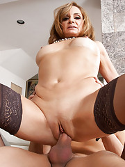 Horny milf cant get enough of this young cock