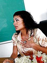Ms. Pele gives one of her students a memorable lesson in how to properly fuck the teacher.