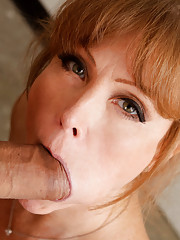 Darla Crane teaches her student a lesson in getting his cock sucked