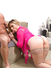 Hot blonde AJ Applegate gets fucked after she shows off her nice round ass.