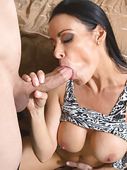 Busty brunette Vanilla DeVille seduces one of her son