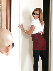 Kennedy Leigh messes up at work and decides to fuck her way out of it.