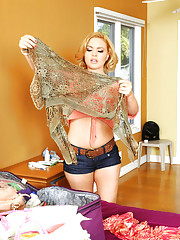 Krissy Lynn makes married guy cheat on his wife and fuck her tight pussy.