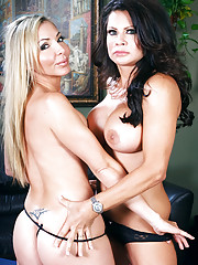 Lisa DeMarco & Teri Weigel have hot threesome with big cock guy.