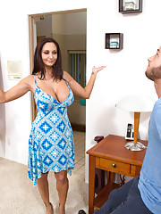Ava Addams shows guy his new place and decides to fuck him right there.