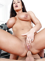 Yoga instructor Lisa Ann gets fucked hard in the ass