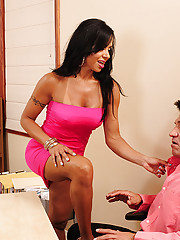 Viana Milian wants to leave but decides to stay at the office when she sees the new guy.