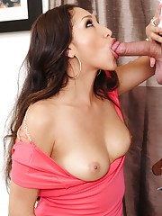 Vicki Chase has hot latin sex with big cocked stud and loves riding his cock.