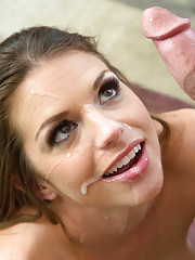 Brooklyn CHase fucks her boyfriends good friend and loves riding his cock on the couch.