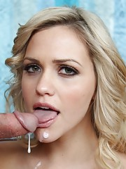 Sexy blonde babe is tired of her old man so she decides to ride his son