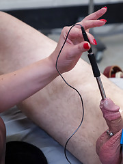 Chronic masturbator gets punished with electrical sounding and ruined orgasms!