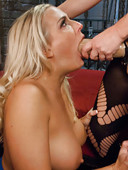 New anal girl Angel Allwood takes giant strap-on cock up her ass!