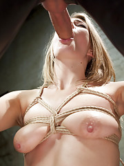 Hot blonde slut Amanda Tate gets fucked hard in slave training sessions