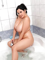Huge Tits in Shower