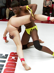 these Rookies show promise. They are able to tag and take advantage of Ariel in 2 on 1 action getting her the closest to a mat orgasm that we